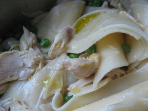 turkey, noodles and peas by Akuokuo Vallis